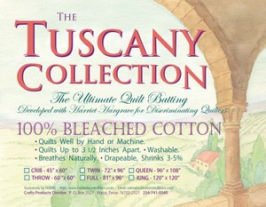 Hobbs -Tuscany, 100% Bleached Cotton Batting TWIN