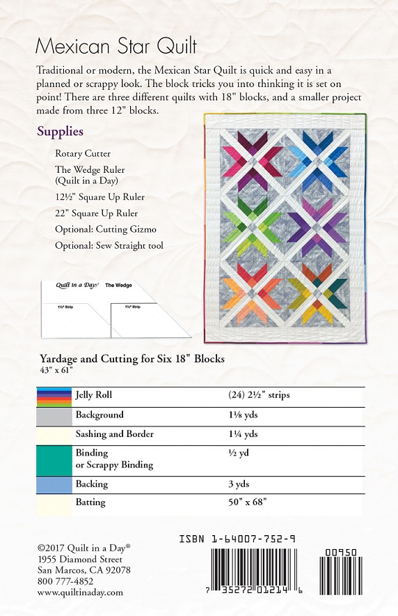 Mexican Star Quilt Eleanor Burns Signature Pattern