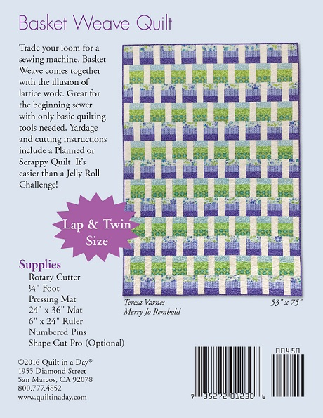 Basket Weaving Books Free : Basket weave quilts eleanor burns signature pattern