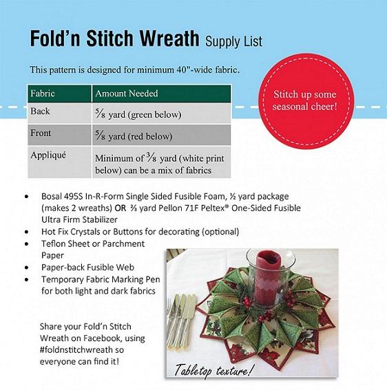 Eleanor Burns Poorhouse Quilt Designs Fold N Stitch Wreath