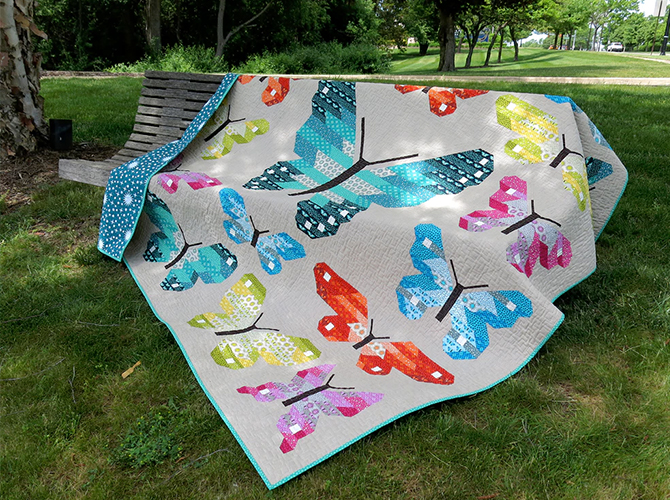 Lepidoptera Quilt Kit And Pattern By Elizabeth Hartman