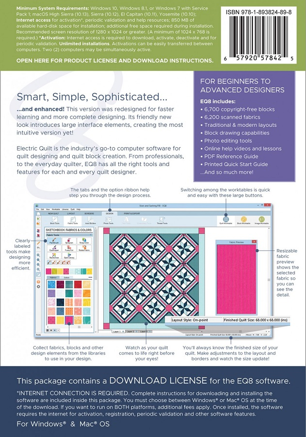 Eleanor Burns Eq8 Quilt Design Software For Windows And Mac By