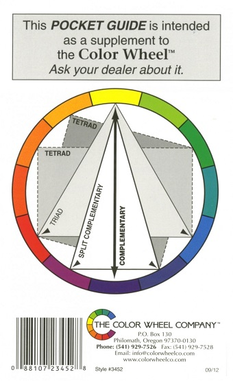 Pocket Guide To Mixing Colors By The Color Wheel Co 088107234528