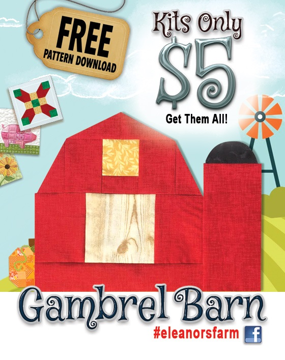 Free Eleanors Barn Block Pattern Download - Fun on the Farm