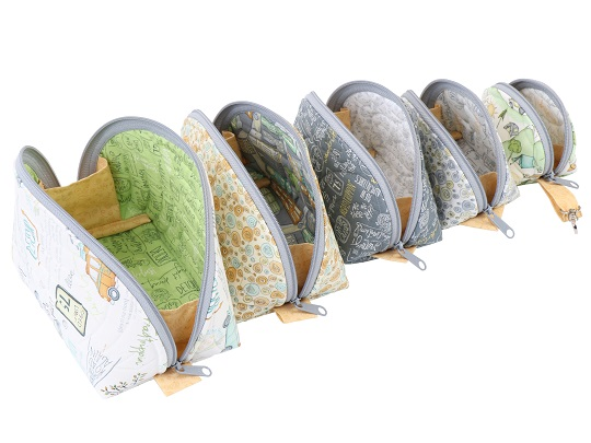 Clam Up Zippered Pouches Pattern By Annie 815217021805