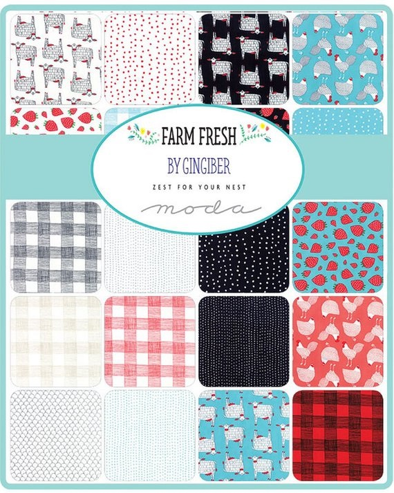 Farm Charm Layer Cake 42-10 Precut Fabric Quilt Squares by Gingiber
