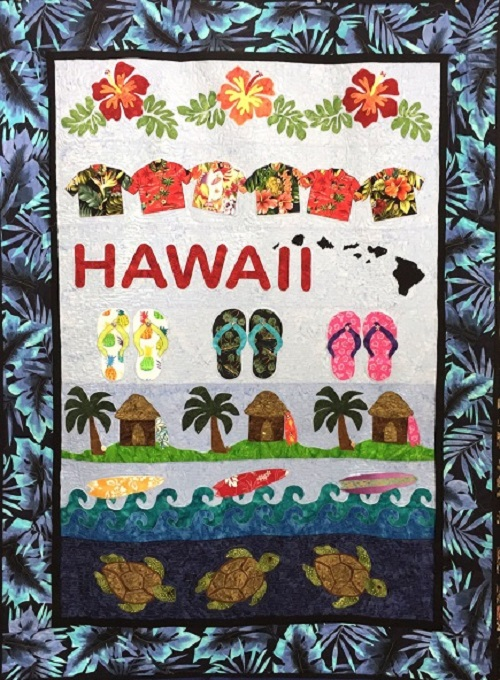 Hawaii Row By Row Quilt Pattern By Aloha Quilt Designs 782752790667