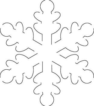 Nerdy image with printable snowflake stencils