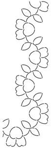 Vine Quilting Stencils : Pansy Vine Stencil 5 inch TB37 - 045285520379 Quilt in a Day / Stencils