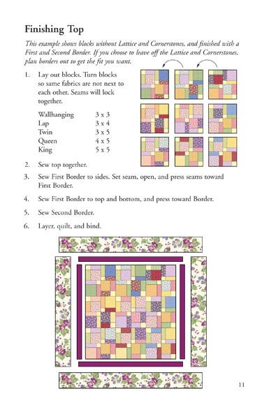 Tossed Nine Patch Eleanor Burns Signature Quilt Pattern