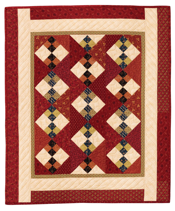 Quilt Patterns To Make In A Day : Double Four-Patch Quilt pattern by Quilt in a Day, Eleanor Burns, 1295 EASY
