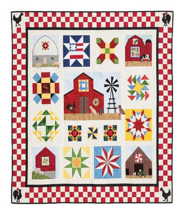 Quilt Blocks On American Barns Freight Damaged