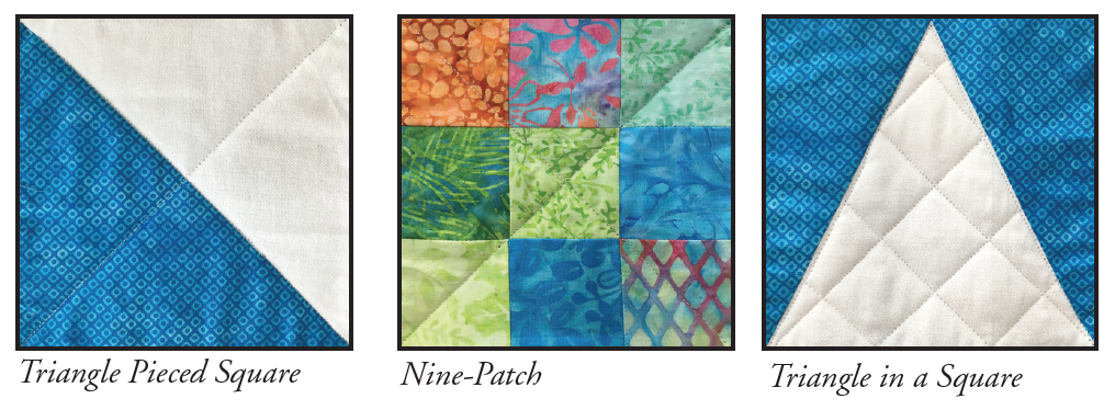 Eleanor burns patches of life quilt eleanor burns signature quilt triangle pieced squares and triangle in a square patches are made from 5 12 and 7 strips maxwellsz